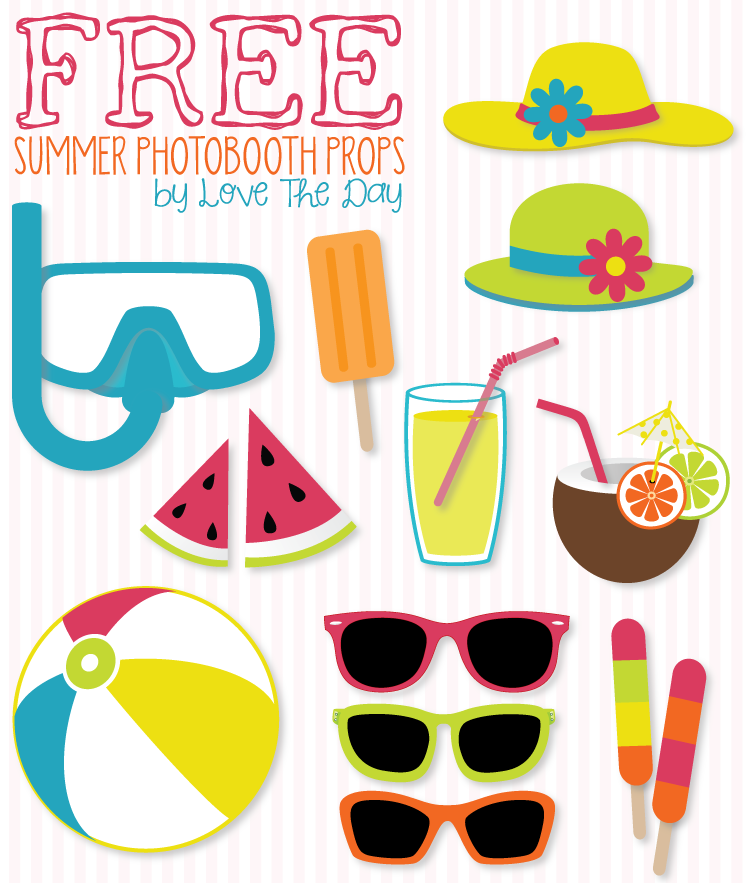 Free Beach Party Printables | Pinterest | Diy photobooth, Summer and ...