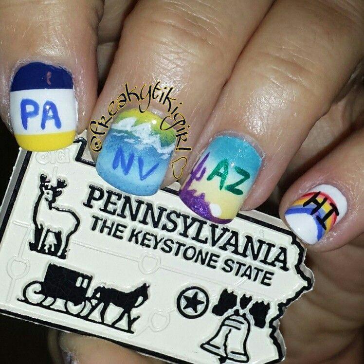 License plate, nail art, freehand, nail polish, Arizona ...