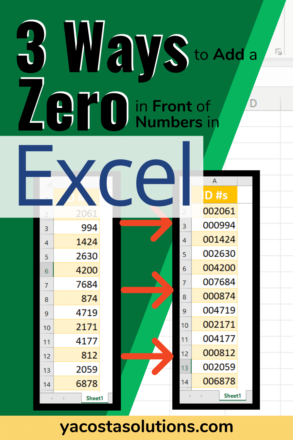 20 Ways to Add Leading Zeros in Excel with pictures + video ...