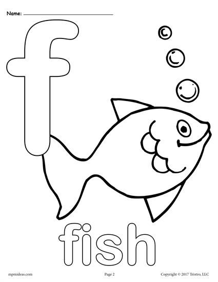 Letter F Alphabet Coloring Pages - 3 FREE Printable Versions ...