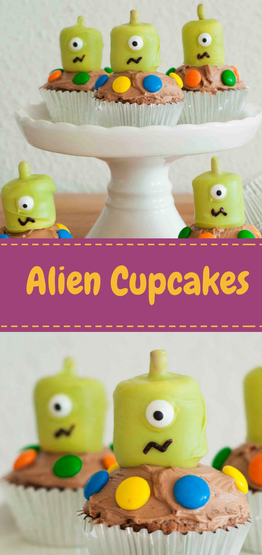 s e alien cupcakes f r einen kindergeburtstag wie von. Black Bedroom Furniture Sets. Home Design Ideas