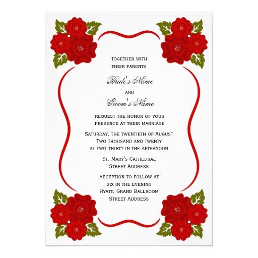 Beautiful red floral border wedding invitation card design beautiful red floral border wedding invitation card design sadiakomal stopboris Images