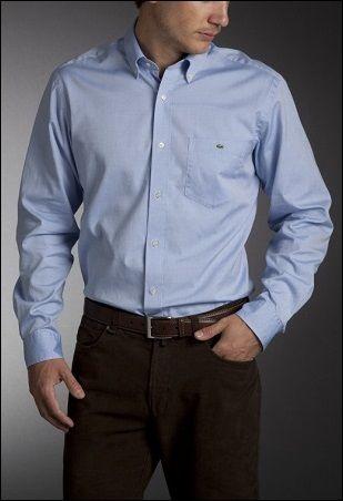 Khaki Cotton Squared Off Collar Classic Mens Shirt Men Shirt