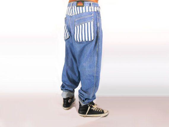 9f13ba03631f Mens Streetwear  Aesthetic Tumblr  Sea Punk Cross Colours  Seapunk  Pastel  Grunge  90s Club Kid  Hip Hop Vintage  FUBU  Baggy Jeans  Striped