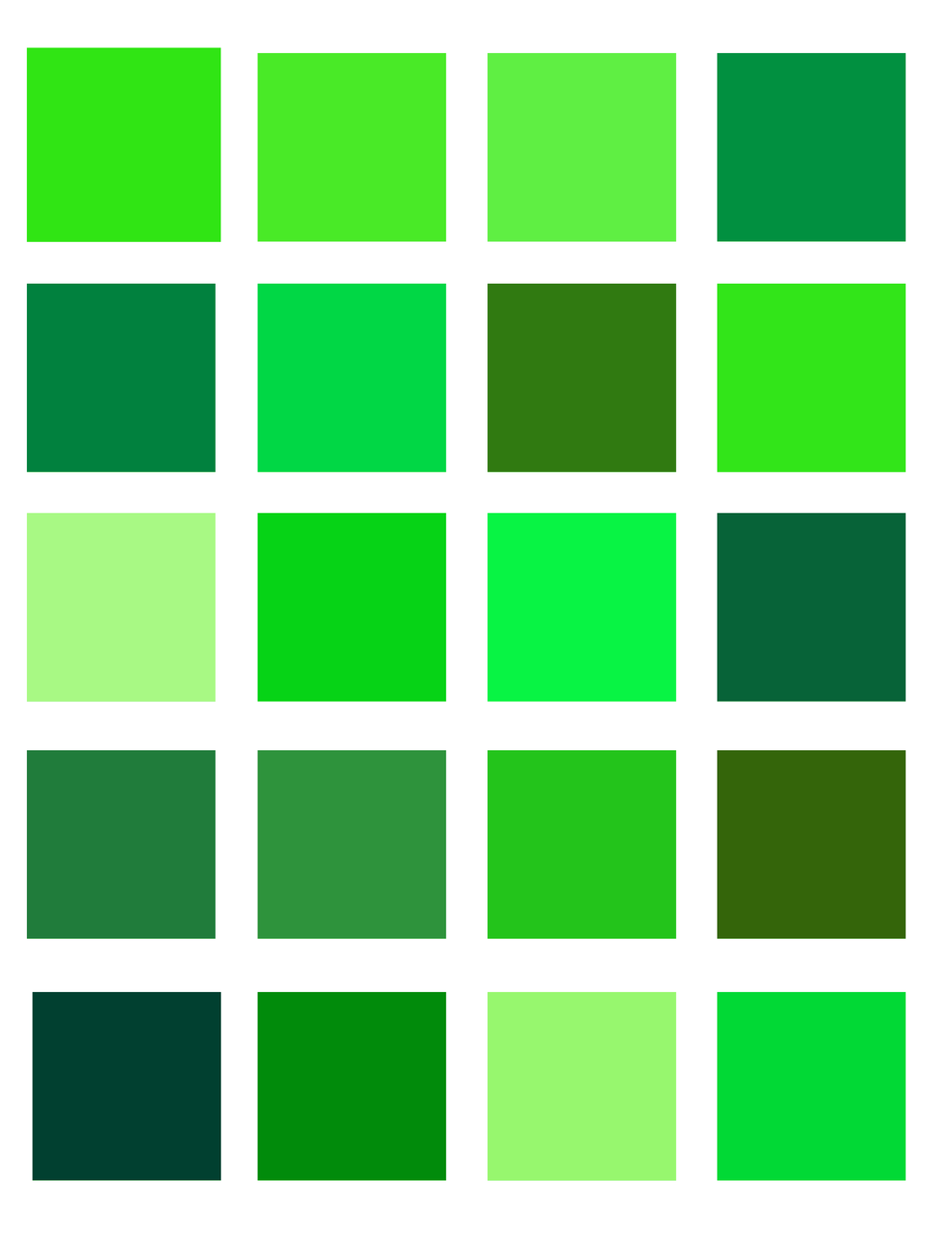 Neon Green Color Palette By Oceanisuna On Deviantart
