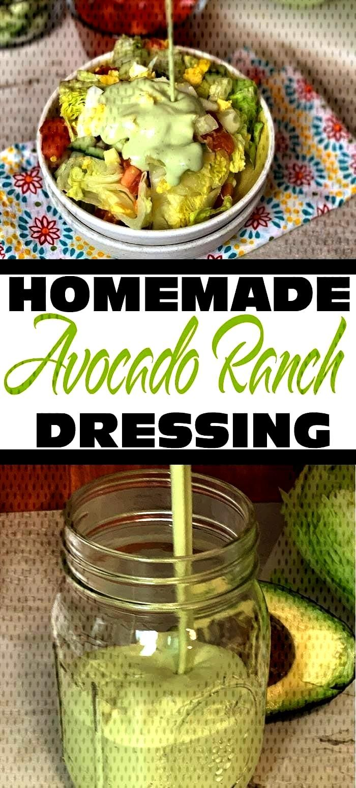 Ranch Dressing Do you love ranch dressings and dips? Do you love avocados? If yes, you will go bonk