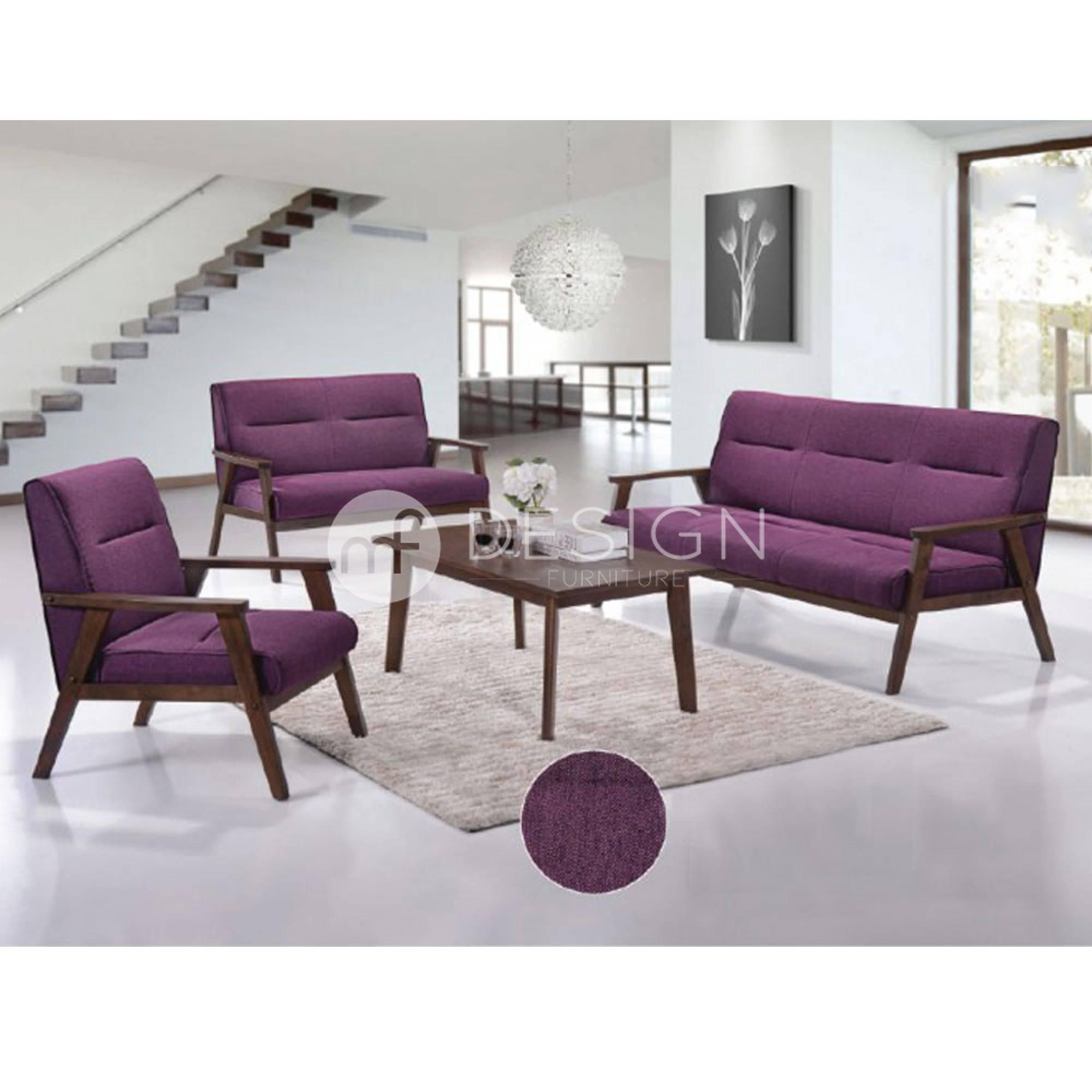 NEST 1 2 3 ANTIQUE SOFA SET PURPLE