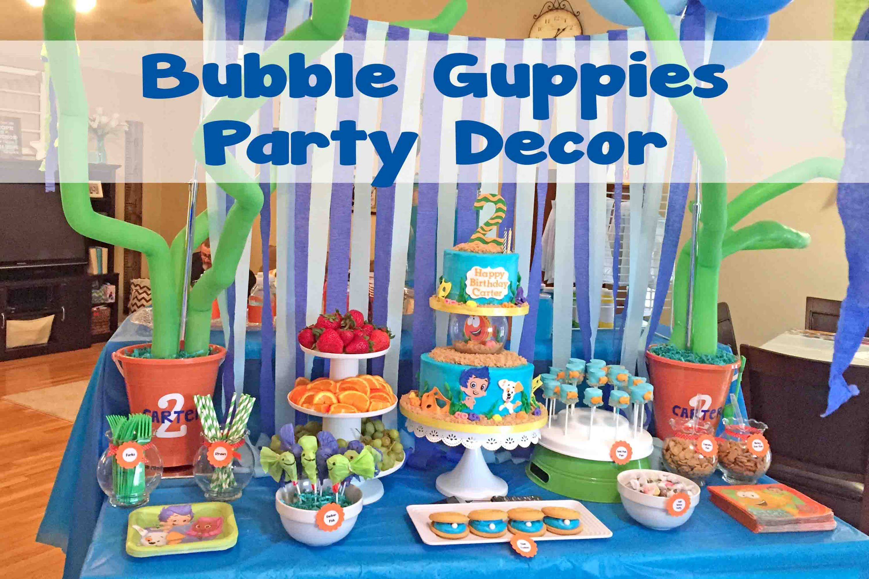 Bubble Guppies Under the Sea Party Decor | #48 | Bryce 3rd B-day ...