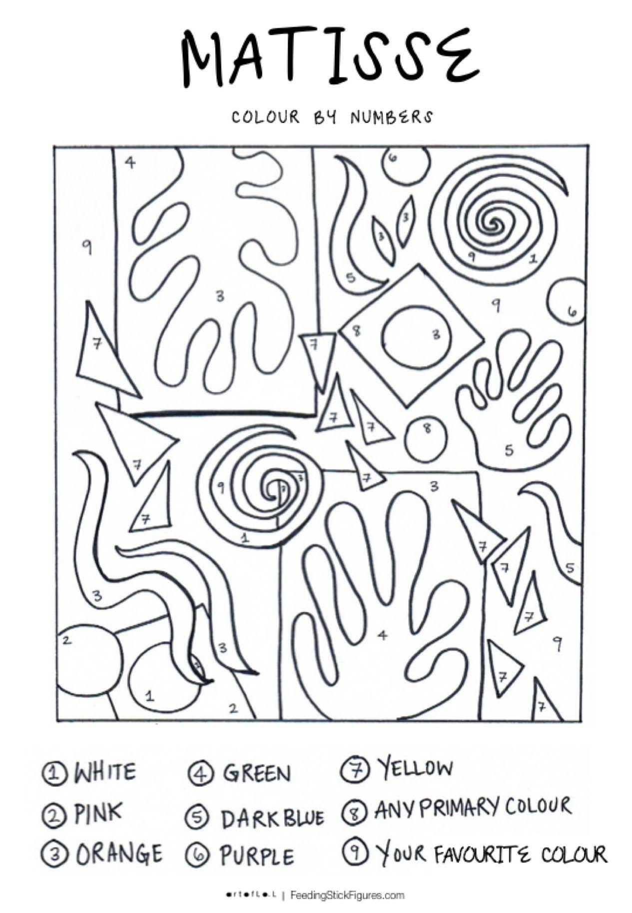 6 Matisse Art Projects For Kids Matisse Art Art Handouts