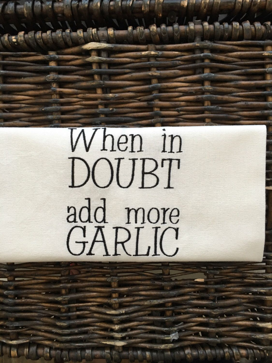 Kitchen Towel For Garlic Lovers! Hard To Buy For Man Christmas Gift  Gift  For Grandfather Italian Grandmother Garlic Gift