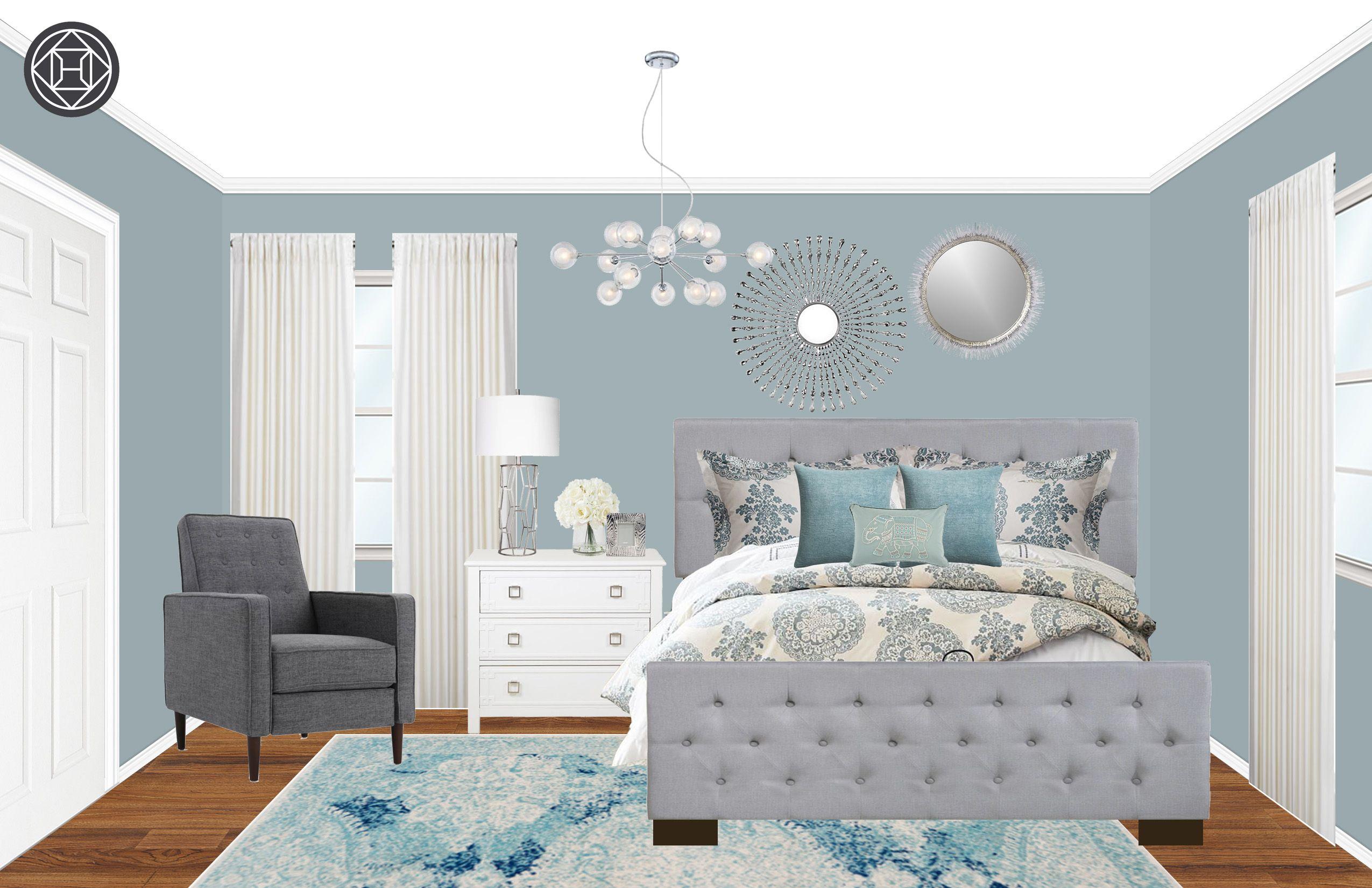 Contemporary Bohemian Bedroom Design By Havenly Interior Designer