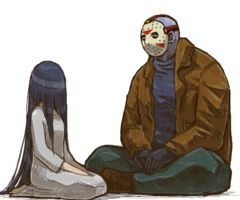 This is so cute. This is me and my hubby. He usually dresses up as Jason Voorhees for Halloween. One year, I dressed up as Samara from The Ring.