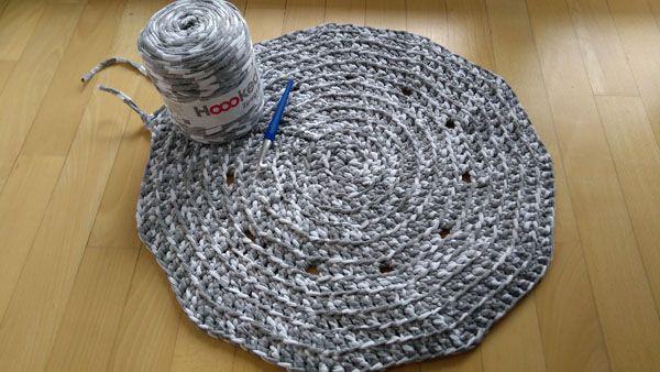 Teppich Badvorleger Aus Textilgarn Selber Häkeln Handarbeiten