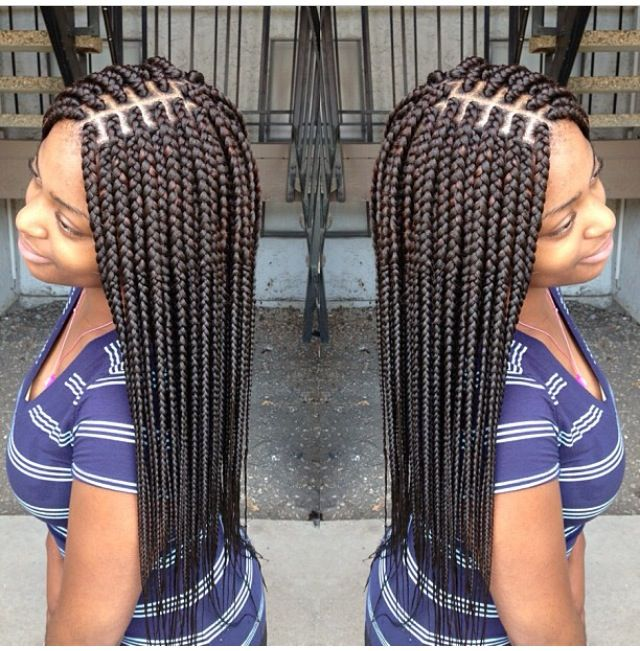 I M Loving The Mid Line Box Braids Braids Braids For