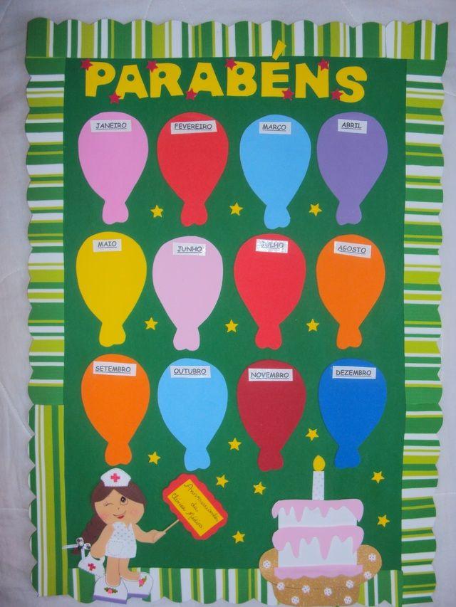 Como fazer mural de aniversariante murals and birthday - Mural pared infantil ...