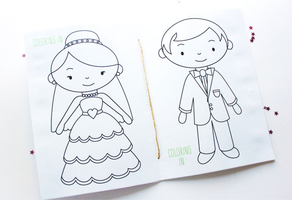 free printable wedding activity book cute photos for the kids activity - Kid Free Books