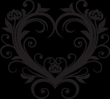Fancy Heart Outline for Pinterest | wedding stuff ...