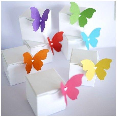 kit papillons du matin : boites à dragées, papillons avec ou sans