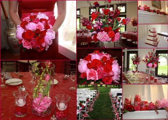 Pink and Red Roses   Hot Pink and Red Wedding Flowers   Love Of ...