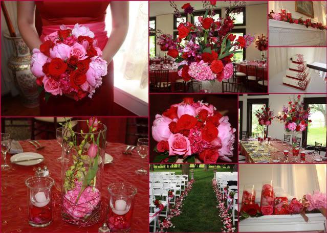 Red Orange And Pink Wedding