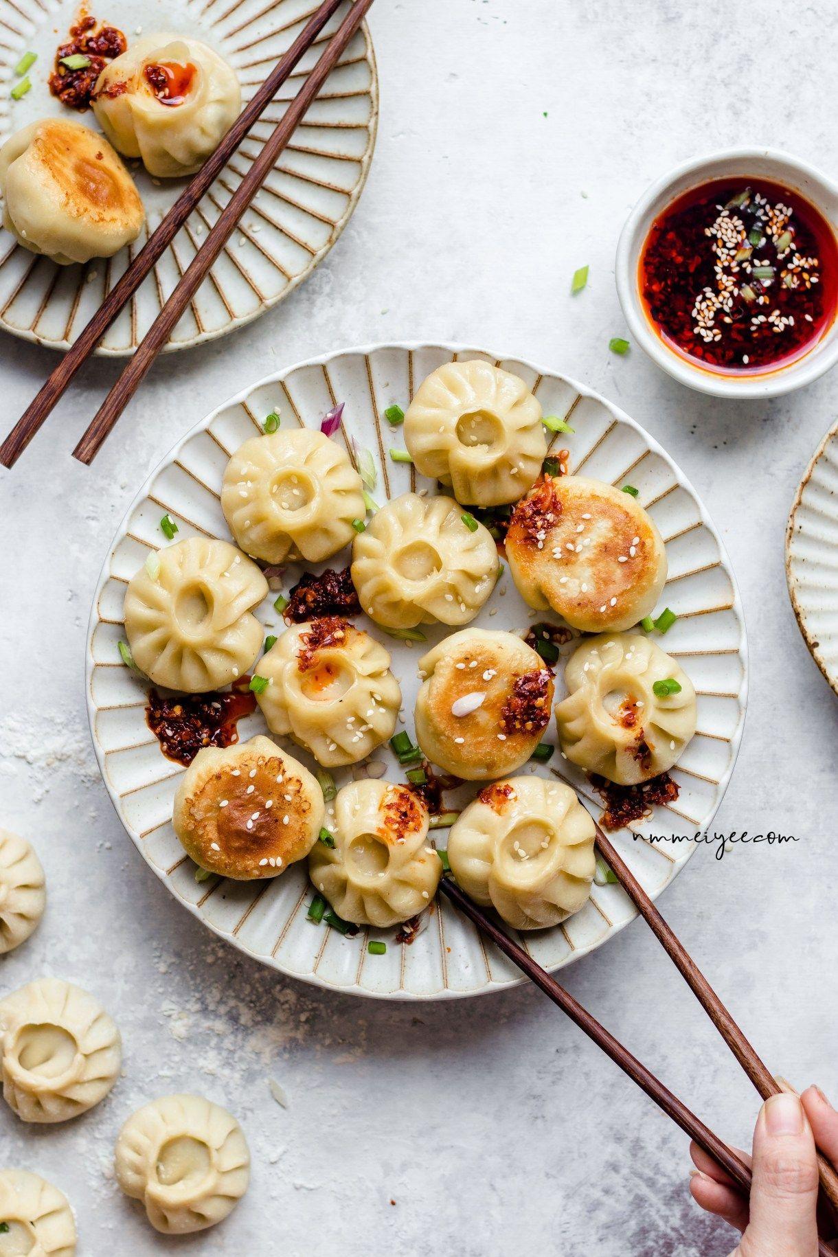 Vegan Sesame Tofu Dumplings Nmmeiyee This Vegan Life In