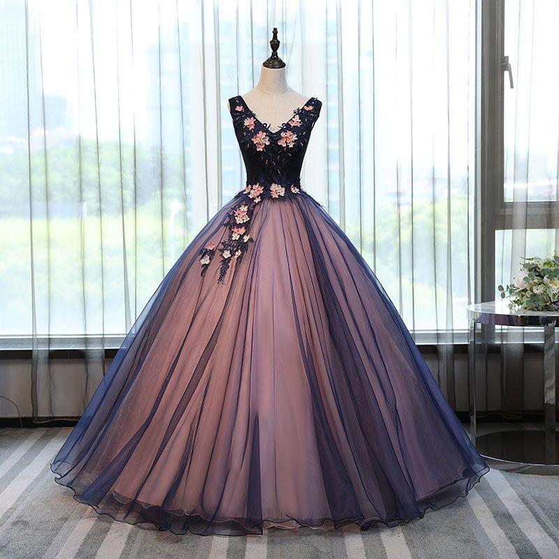 Пышное Платье без рукавов с v образным вырезом Тюль бальное платье из бисера Девушки Маскарад Сладкий 16 платья бальное платье s Vestidos De 15 Anos купить на AliExpress #fiestade15años