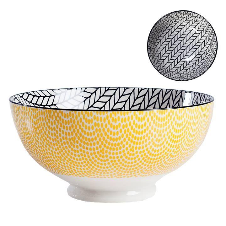 Bol De Porcelaine Large Diamètre De 8 » Hauteur 3.75 » Va Au Micro Onde