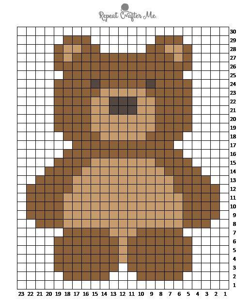 Crochet C2C Bernat Blanket Bear | Muster, Häkeln und Decken