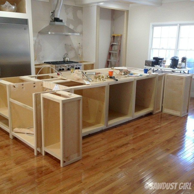 Kitchen Island Using Stock Cabinets: Kitchen Island Update Pdf Diy Building Kitchen Island