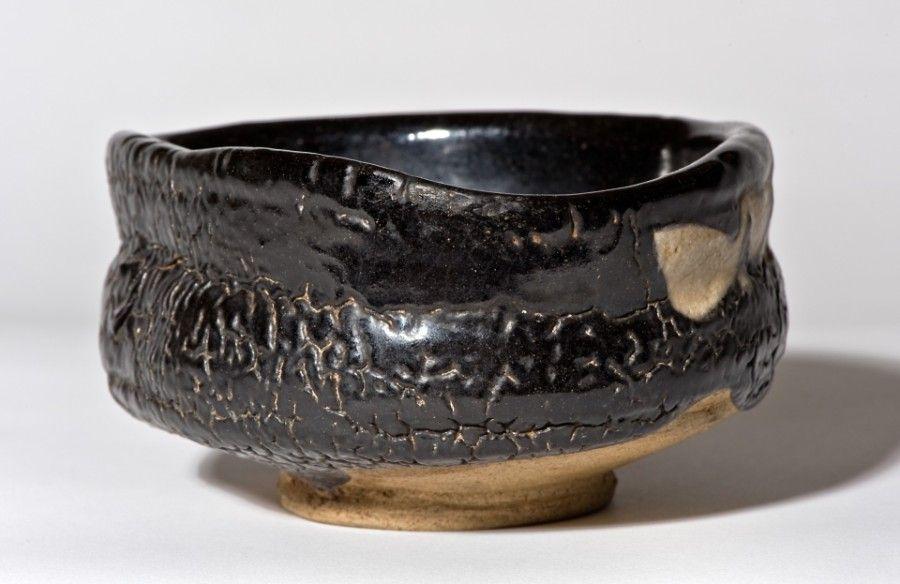 Kuro Oribe Chawan from Edo Period