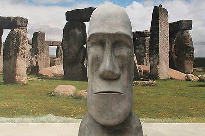 X LARGE EASTER ISLAND STONE HEAD STATUE GARDEN ORNAMENT   EBay