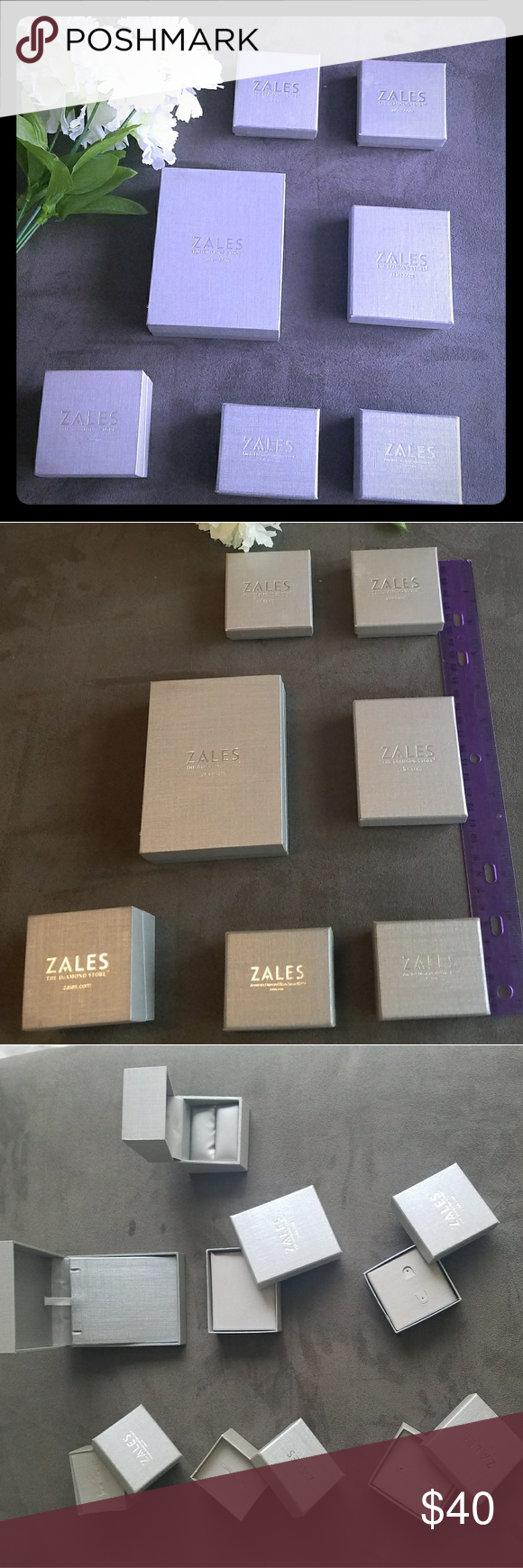 Zales Boxes : zales, boxes, Zales, Jewelry, Empty, Cases, Jewelry,, Earring