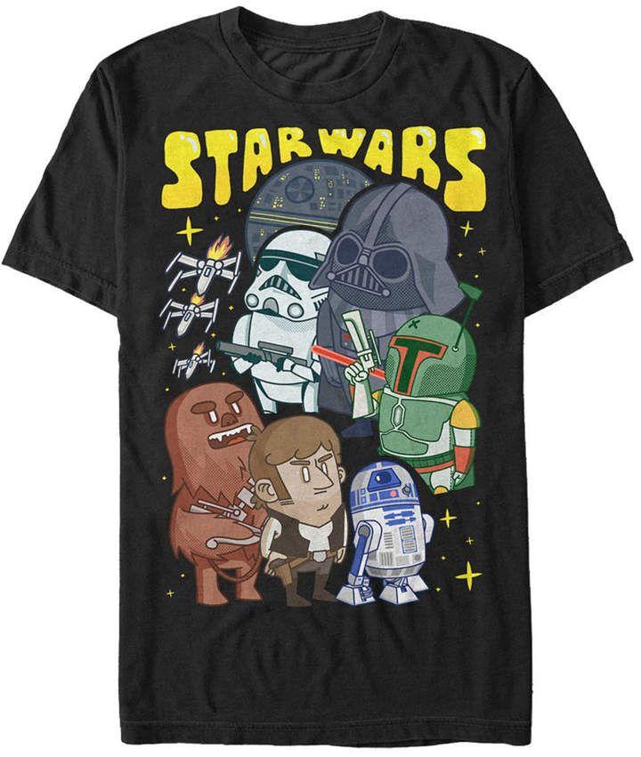 Star Wars Men Classic Cute Good Guys Vs. Bad Guys Short Sleeve T-Shirt #adventlustigerster