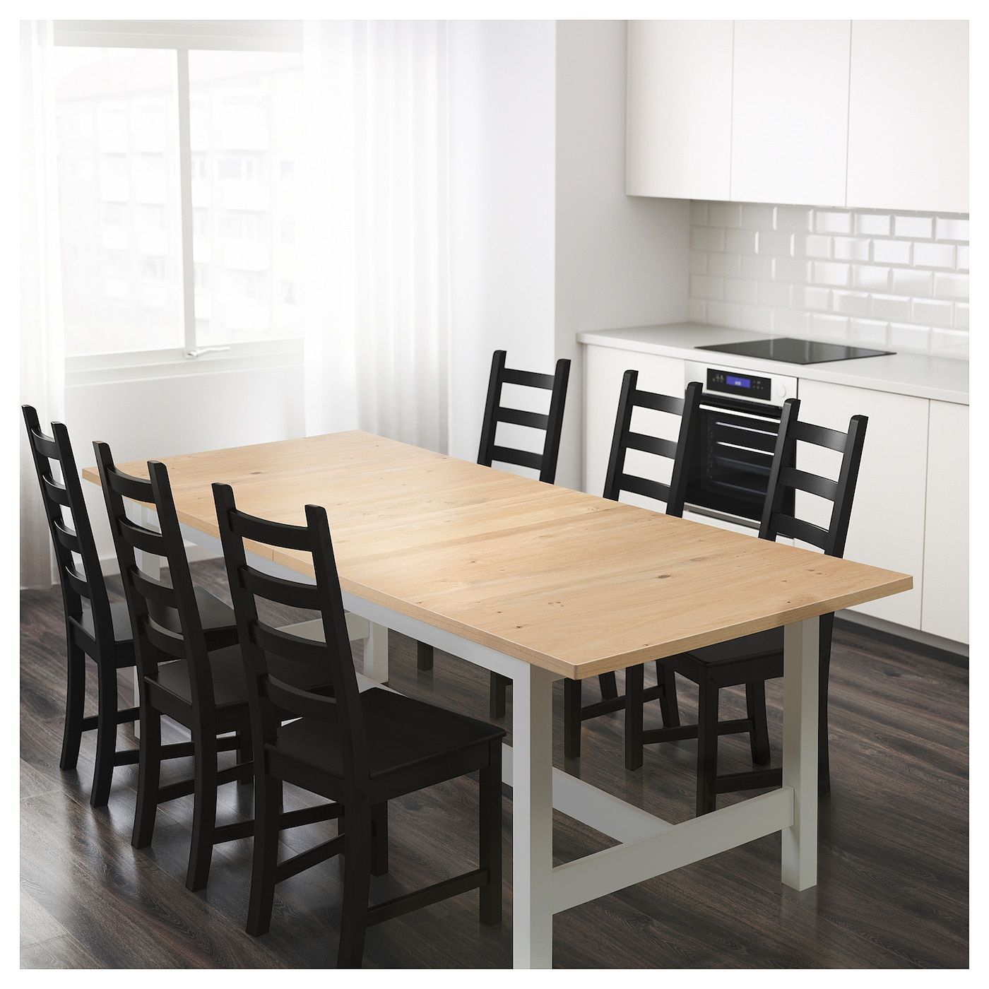 NORDEN Extendable table oak 241