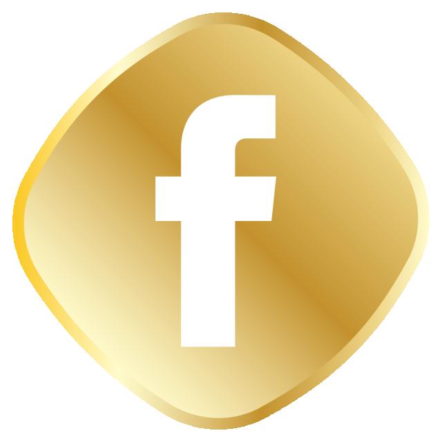Golden Facebook Icon Vector And Png Facebook Icons Icon Set Facebook Icon Vector