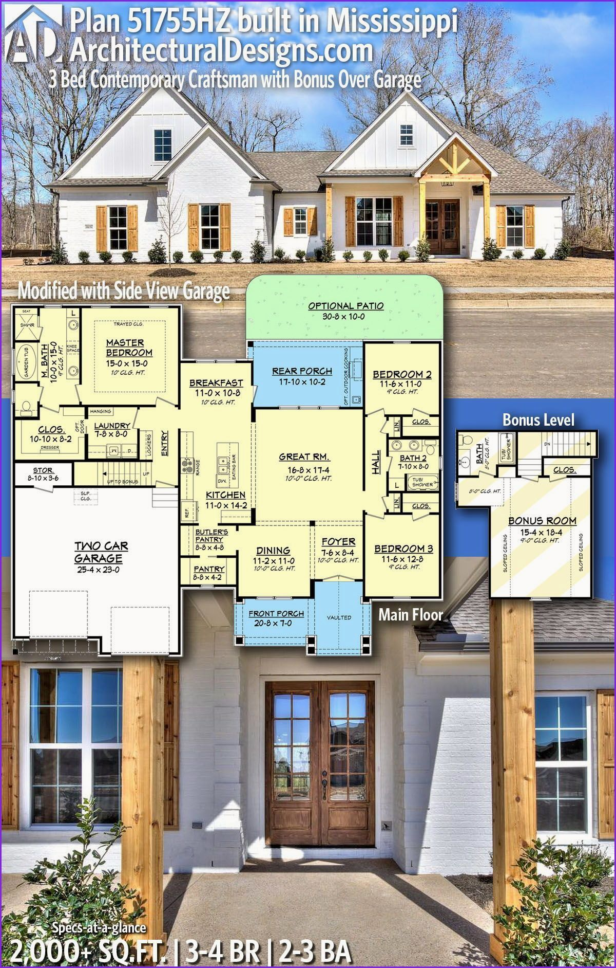Awesome Rooms Over Garage In 2020 Craftsman House Plans House Plans Farmhouse Farmhouse Style House Plans