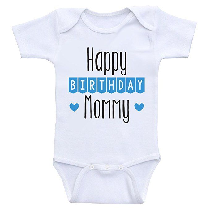 Birthday Baby Clothes Happy Mommy Cute Onesies For Babies 24mo Short