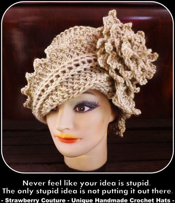 Hat Crochet Pattern Hat, Crochet Hat Pattern, Womens Hat, Crochet ...