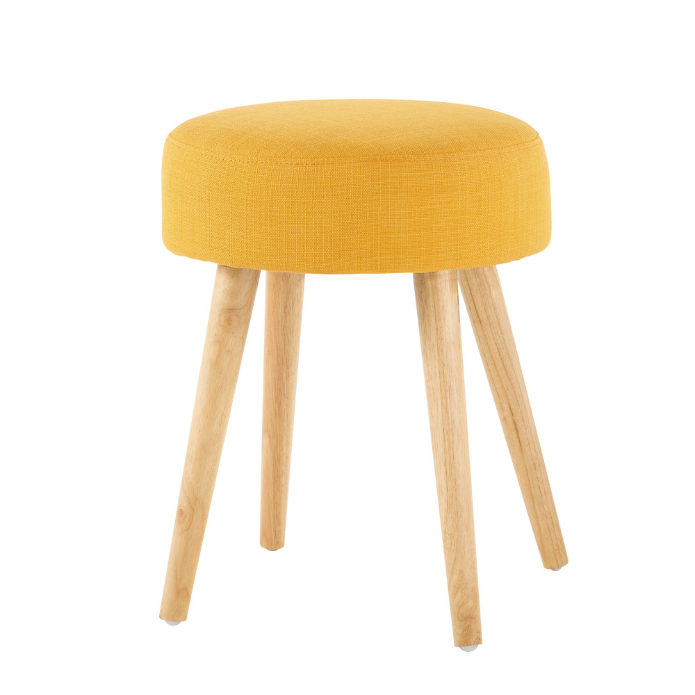 wood and fabric stool in yellow stools furniture26 stools