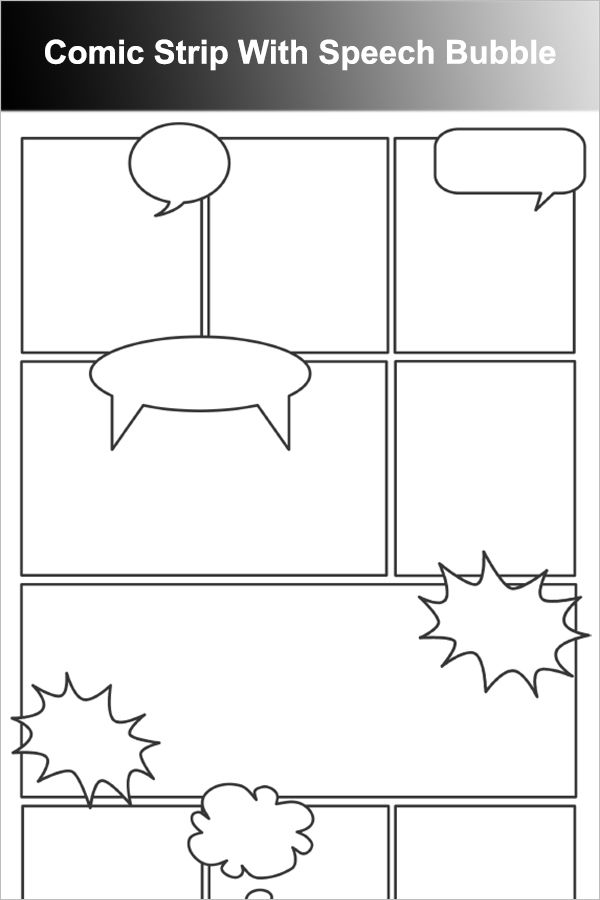 Comic Strip With Speech Bubble  Art Careers Unit