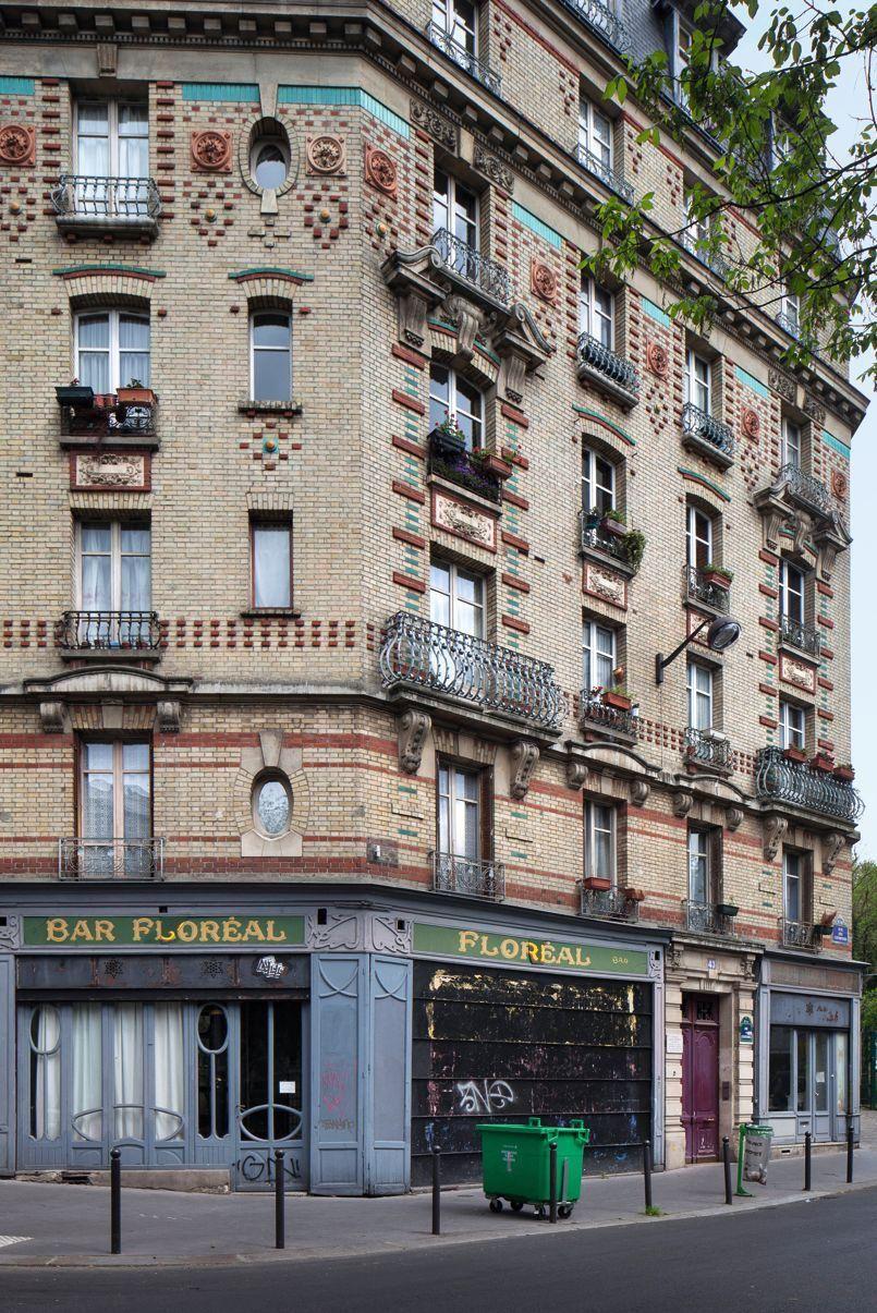 re visitez paris travers ces dix fa ades d immeubles immeuble la couronne et rive droite. Black Bedroom Furniture Sets. Home Design Ideas