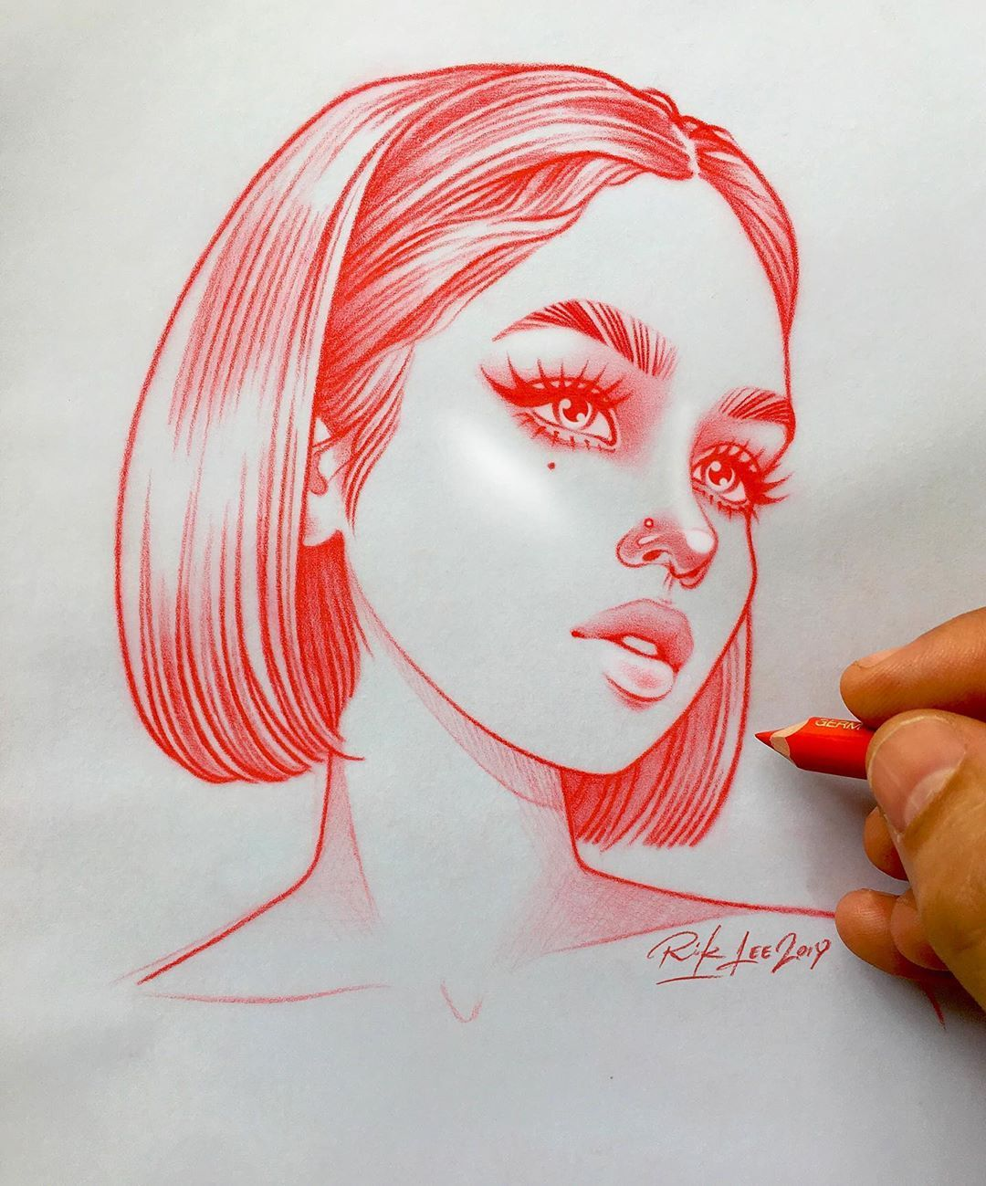 Rik Lee On Instagram There S Something I Find Really Satisfying About That Scratchy Sound Of Pencil On Pa Art Sketches Drawing Sketches Art Drawings Sketches