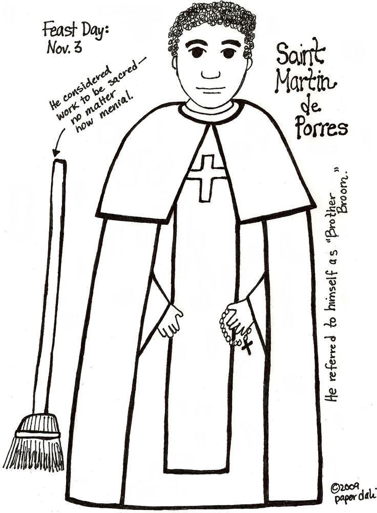 st martin de porres coloring page - Google Search | Religión ...