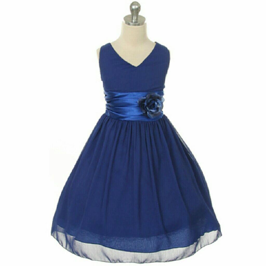 Royal blue flower girl dress birthday bridesmaid royal blue