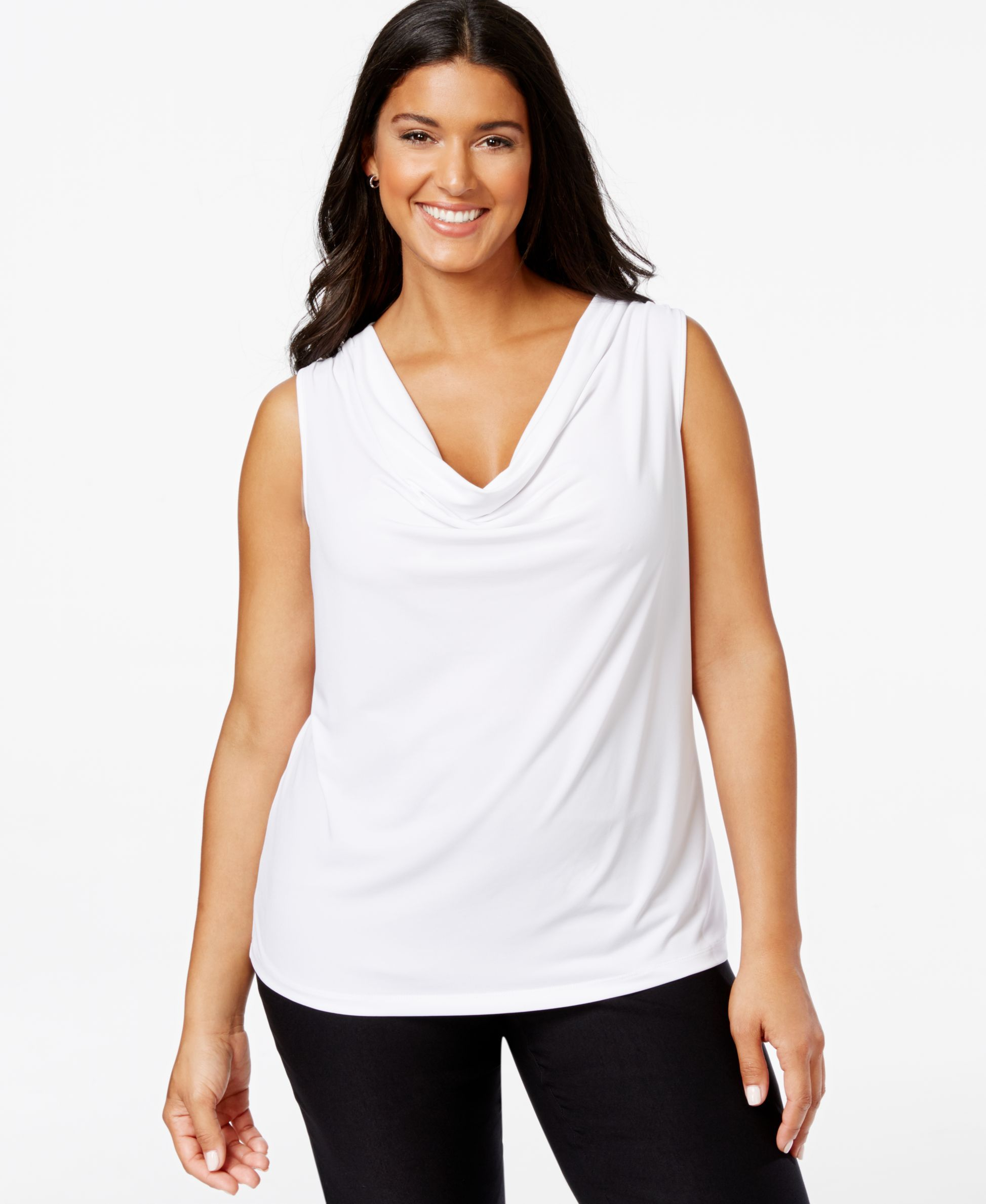 CONNECTED APPAREL $89 Womens New Navy Boat Neck Sleeveless
