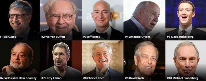 أغنى أغنياء العالم بيل غيتس يتربع على العرش وبيزوس يضيف لثروته 28 مليار دولار خلال عام نشرت مجلة فوربس الأمريكية قائمة أ Carlos Slim Helu Bezos Jeff Bezos