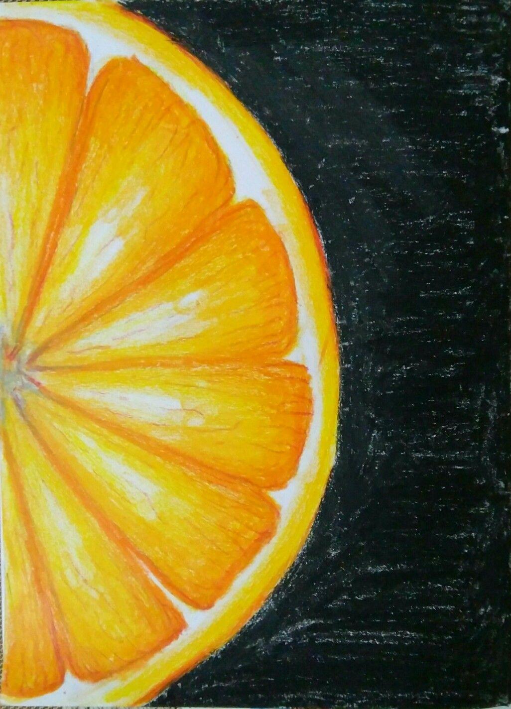Oil Pastel Art Orange Dessin Pastel Dessin De Fleur Dessins
