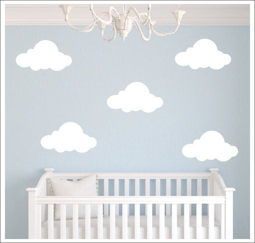 clouds vinyl wall decal fluffy clouds decals vinyl wall decals