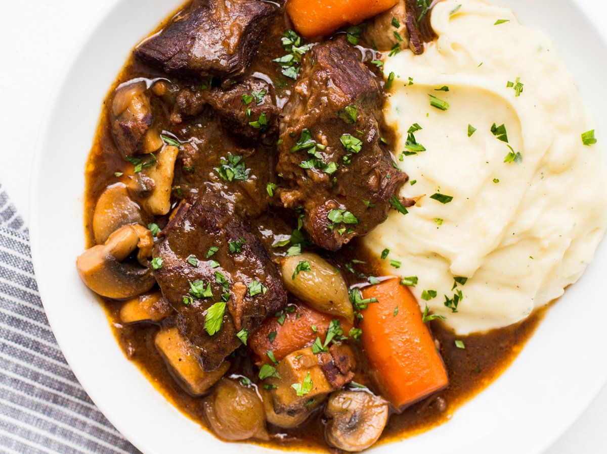 Beef Bourguignon Recipe Recipe Beef Bourguignon Cooking For Beginners Easy French Recipes