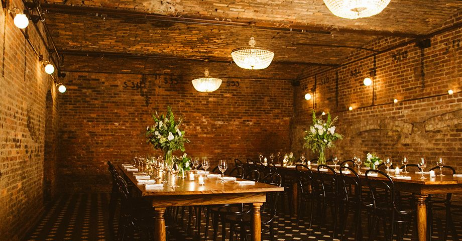 THE SCOOP Multiple Venue Spaces At This Hotel We Especially Love The Private Dining Room With Wood Tables